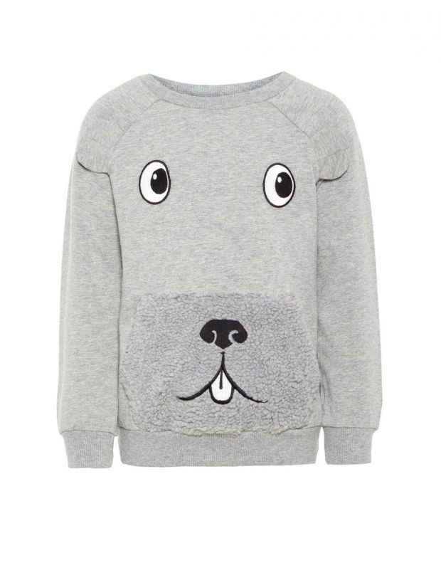 NAME IT Teddy Sweatshirt Grey - 13164715/grey - 1