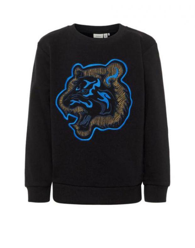 NAME IT Tiger Embroidered Sweatshirt Black - 1