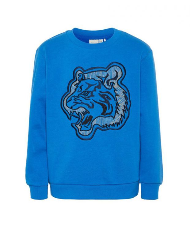 NAME IT Tiger Embroidered Sweatshirt Blue - 1