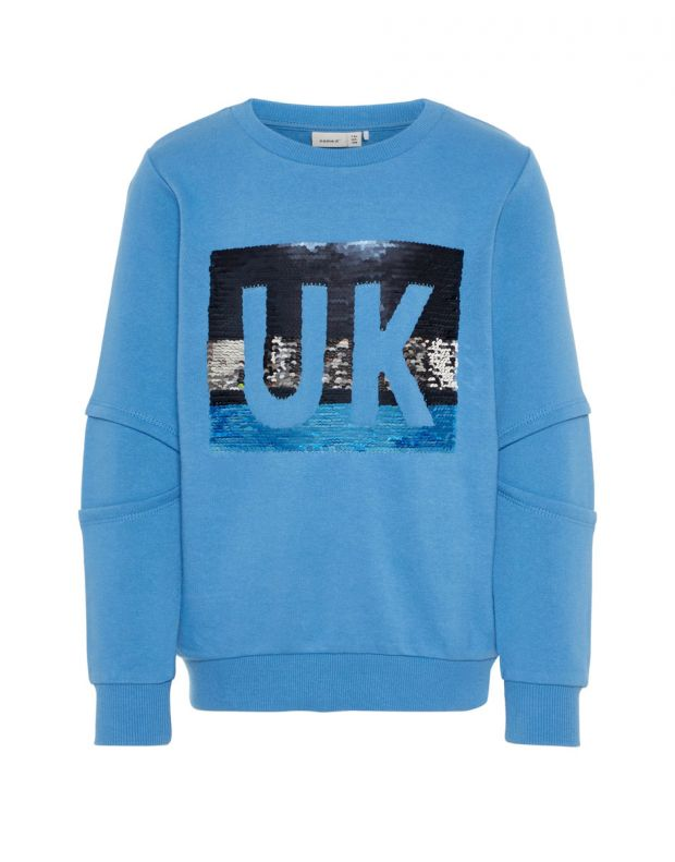 NAME IT UK Flip Sequin Sweatshirt Blue - 13164656/blue - 4