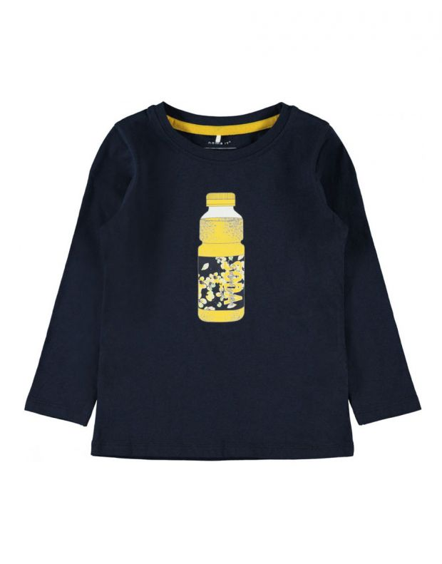 NAME IT Bottle Printed Long Sleeved Blouse Navy - 13168121/navy - 1