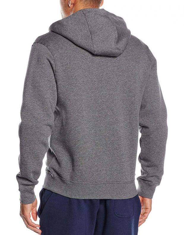 NIKE Swoosh Full Zip Fleece Hoodie Grey  - 2