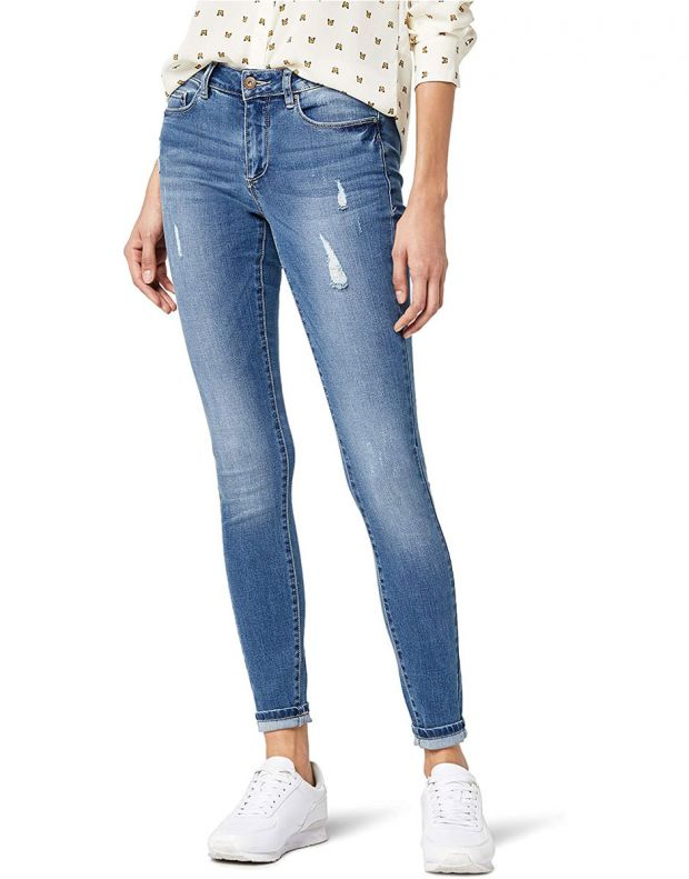 ONLY Distressed Skinny Jeans Blue - 1