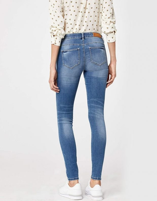ONLY Distressed Skinny Jeans Blue - 15132438/blue - 2