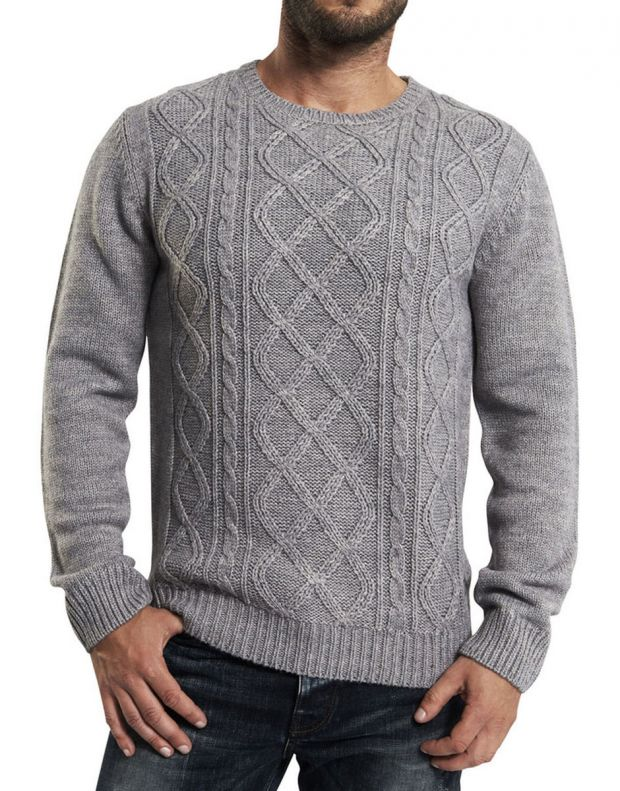 ONLY&SONS Cable Knitted Pullover Grey - 22000065/grey - 1