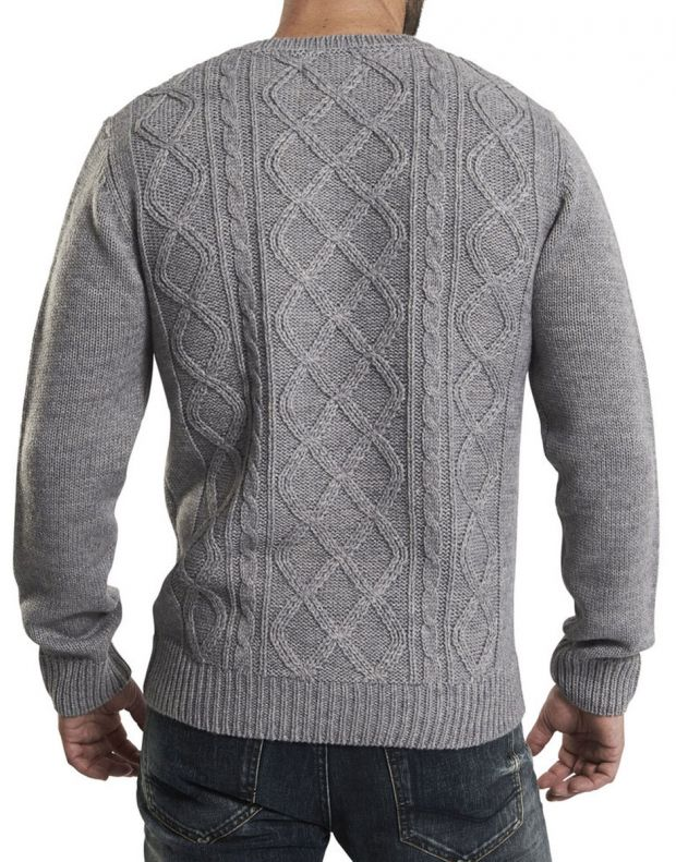 ONLY&SONS Cable Knitted Pullover Grey - 22000065/grey - 2