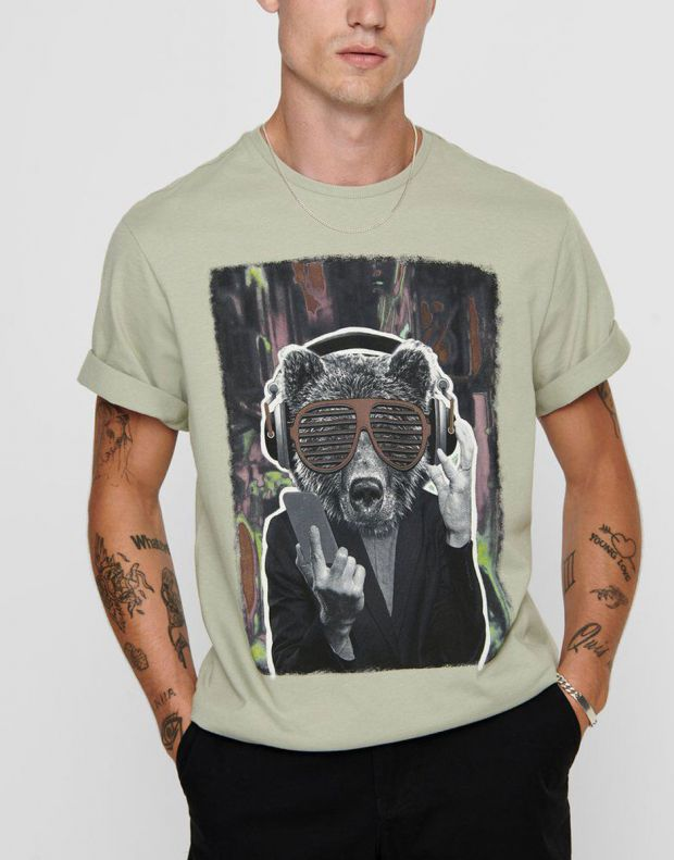 ONLY&SONS Funno Tee Seagrass - 22017096/seagrass - 3