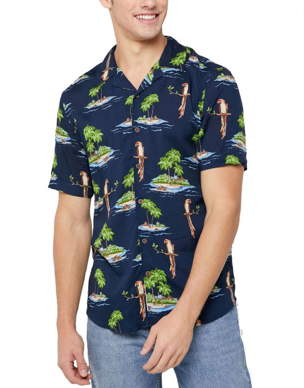 ONLY&SONS Hawaiian Print Relaxed Fit Shirt Navy - 22012656/navy - 1