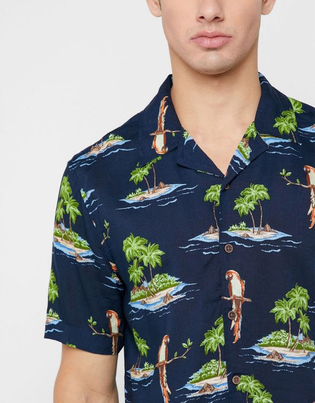 ONLY&SONS Hawaiian Print Relaxed Fit Shirt Navy - 22012656/navy - 3