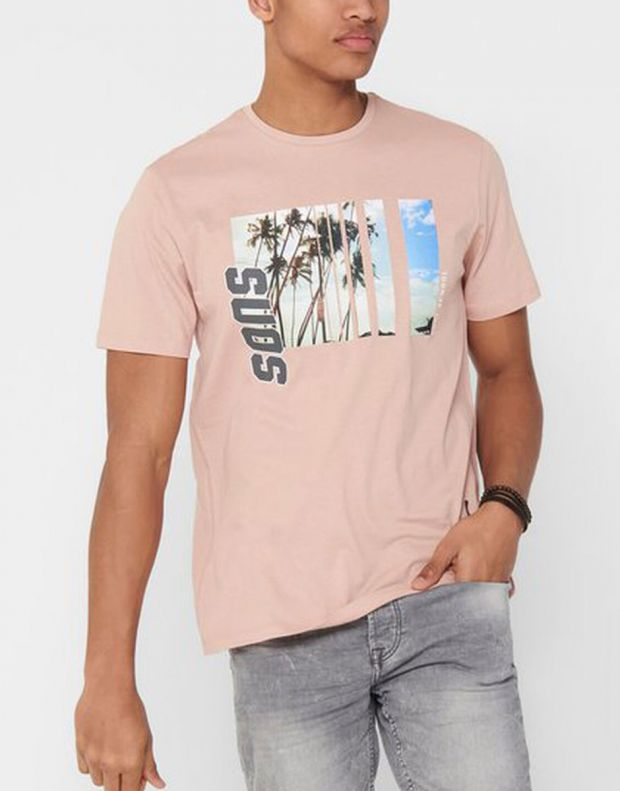 ONLY&SONS Indio Tee Rose - 22016606/rose - 4