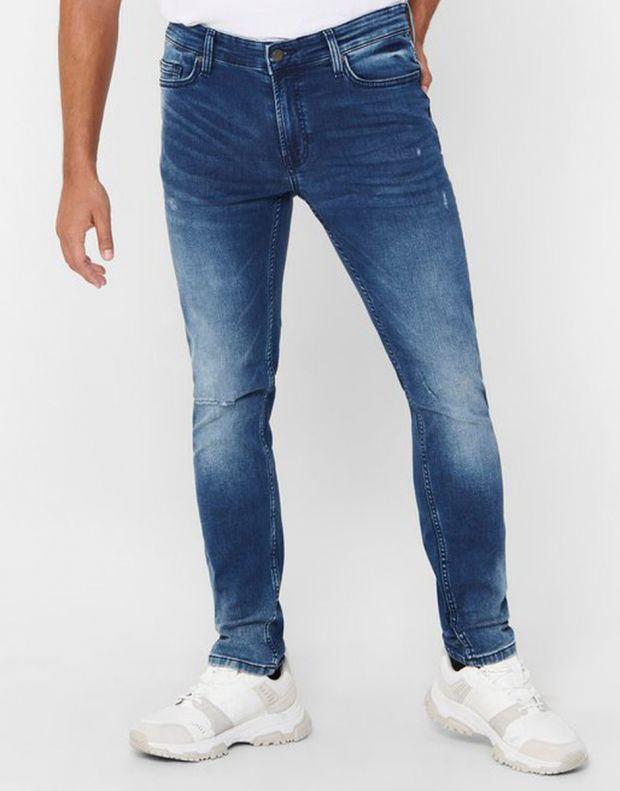 ONLY&SONS Loom Zip Sweat Slim Jeans Denim - 22017101/denim - 3