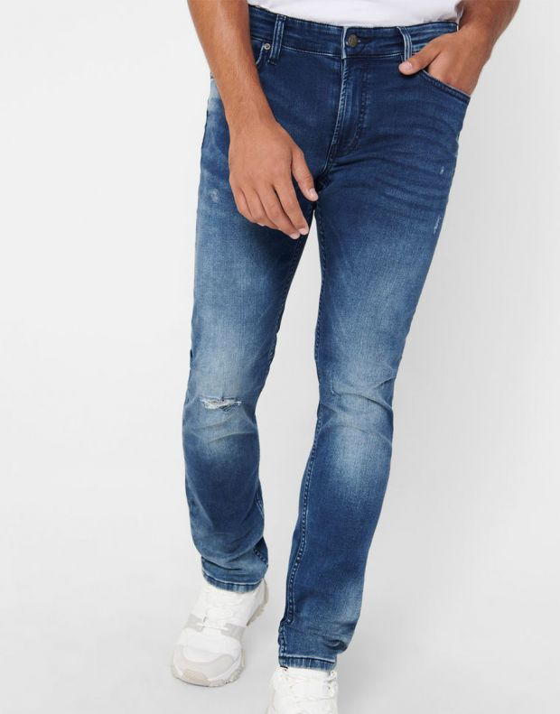 ONLY&SONS Loom Zip Sweat Slim Jeans Denim - 22017101/denim - 4