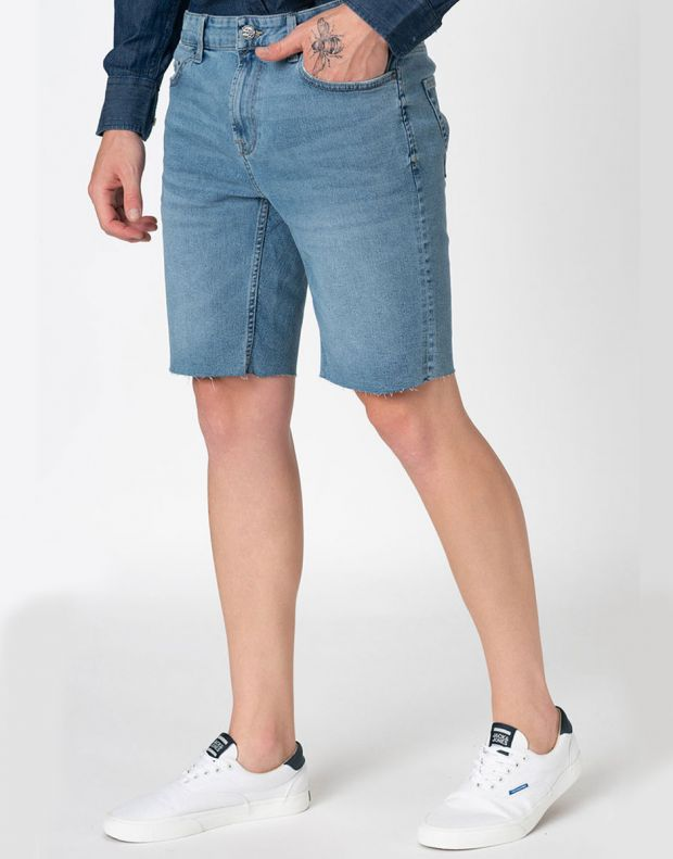 ONLY&SONS Ply Reg Raw Hem Shorts Blue - 22015275 - 3