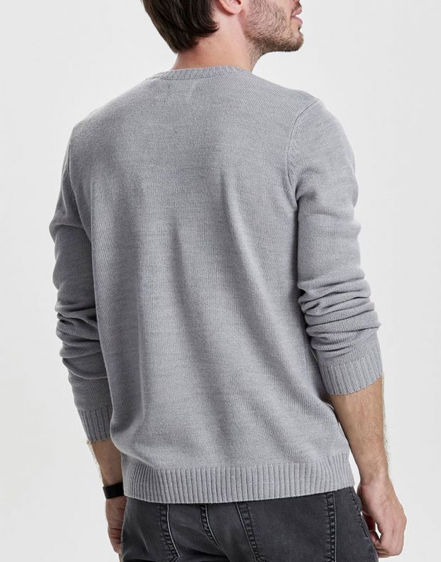 ONLY&SONS Santa Printed Sweater Grey - 22008306/grey - 2