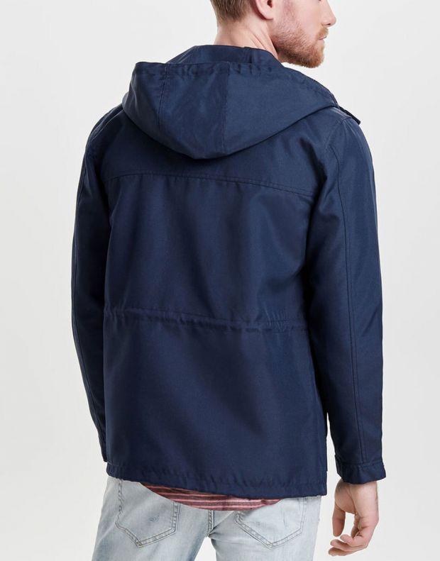 ONLY&SONS Solid Parka Coat Blue - 22005901/blue - 2