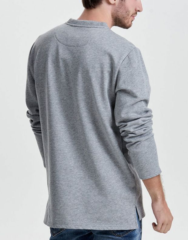 ONLY&SONS Tobi Pocket Sweatshirt Grey - 22008091/grey - 2