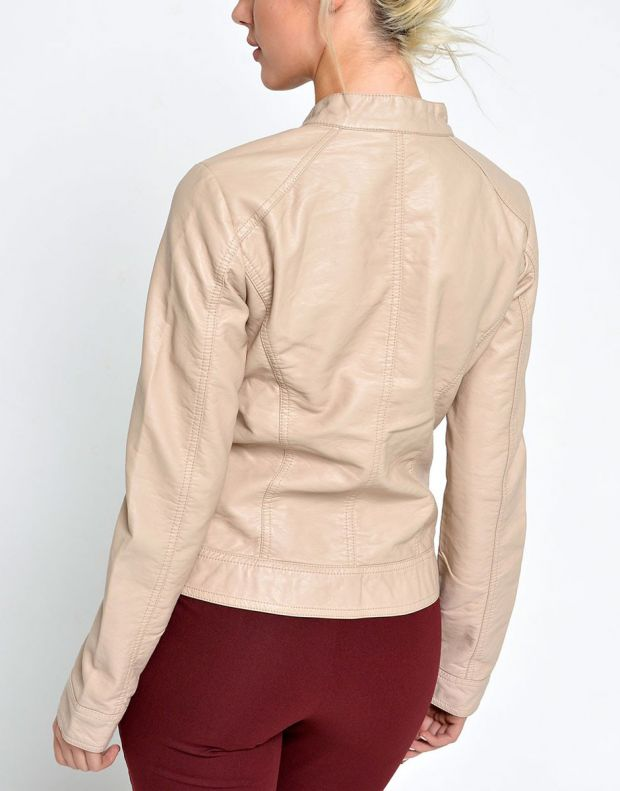 ONLY Bandit Leather Jacket Tan - 2
