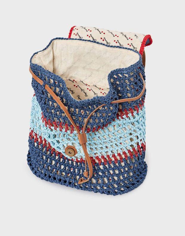 PEPE JEANS Macrame Backpack Blue - PG030320-0AA - 3