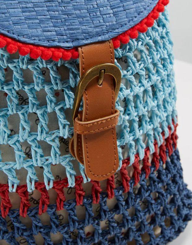 PEPE JEANS Macrame Backpack Blue - PG030320-0AA - 4
