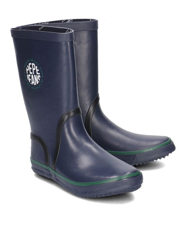 PEPE JEANS Rain Logo Boots Navy - PBS50076-595 - 3