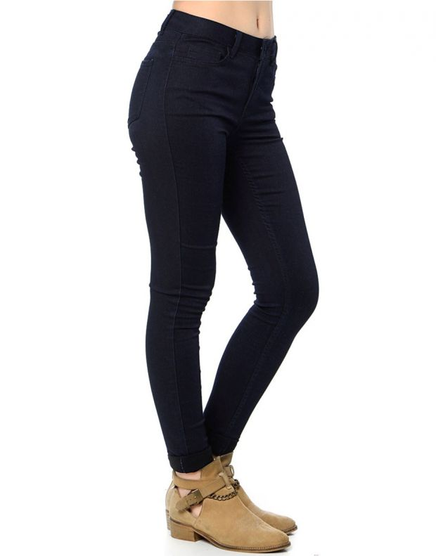 PIECES Normal Bel Skinny Leggings Denim - 17061191/blue - 3