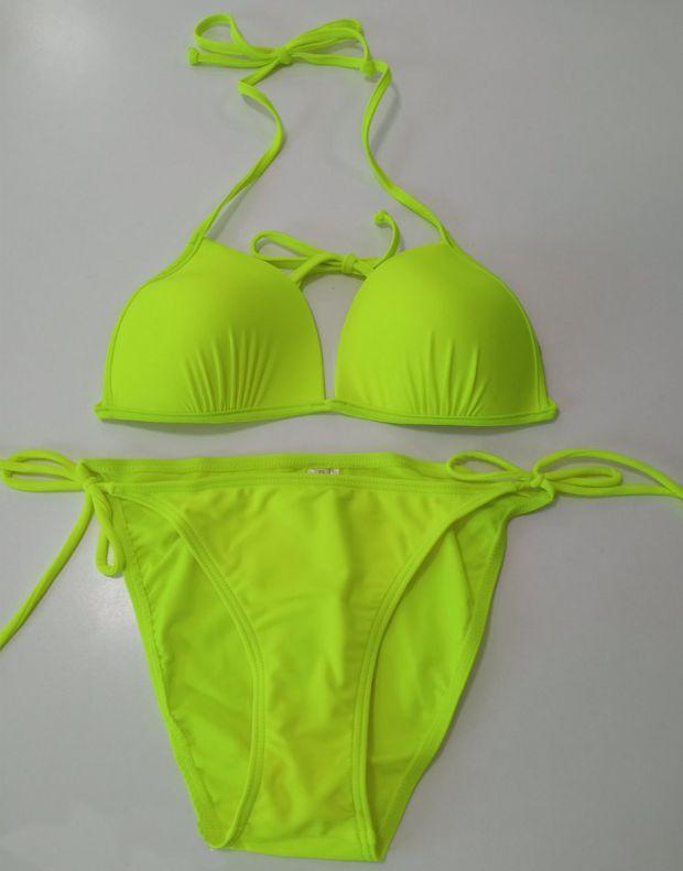 PIECES Tanga Swim Bottom Lime - 17065739/lime - 3