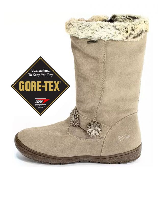 PRIMIGI Flower Gore-Tex Boots Fur Beige - 81801 - 1