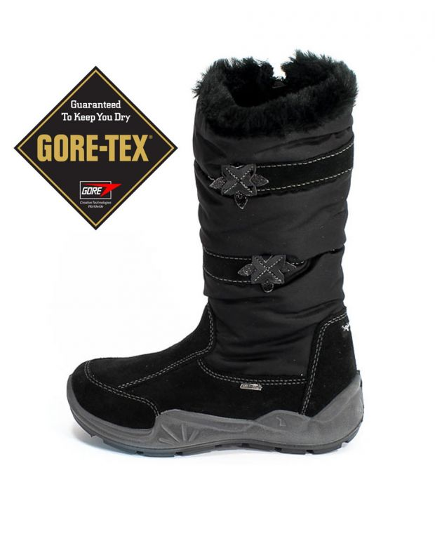 PRIMIGI Snowflakes Gore-Tex Boots Fur Black - 1