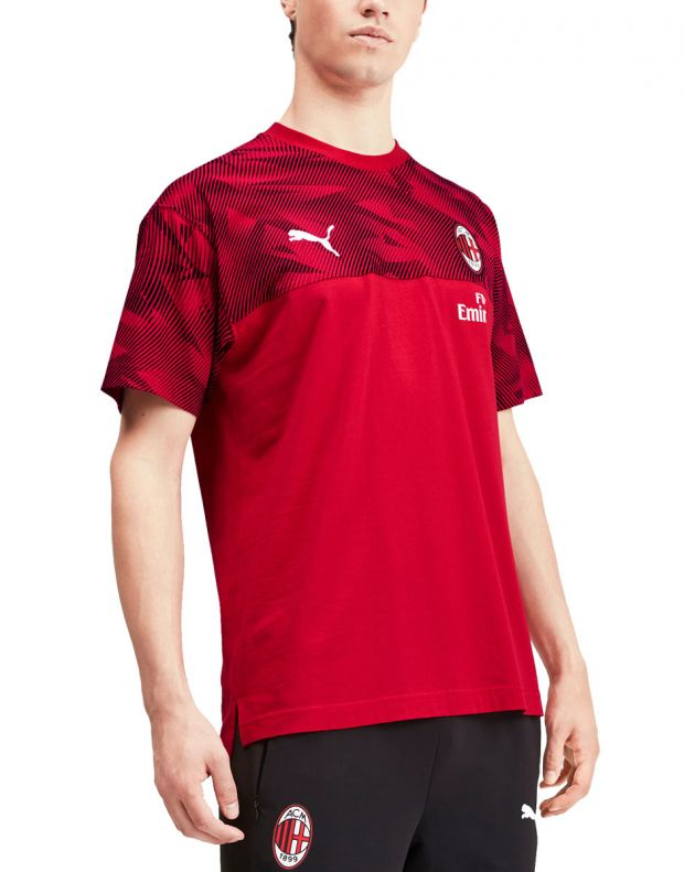 PUMA AC Milan Casuals Tee Red - 756150-01 - 1