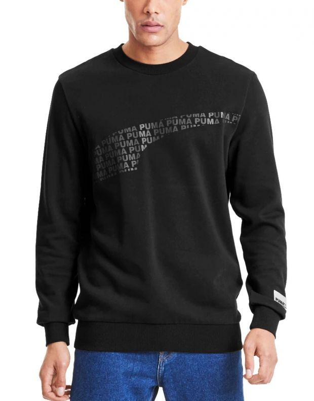 PUMA Avenir Graphic Crew Neck Sweater Black - 597046-01 - 1