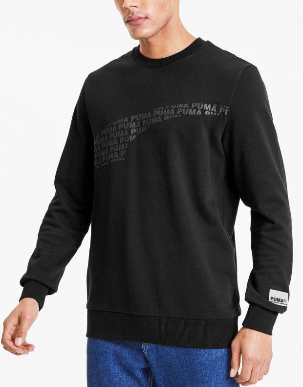 PUMA Avenir Graphic Crew Neck Sweater Black - 597046-01 - 3