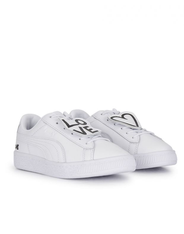 PUMA Basket Badge Ps White - 370799-01 - 3