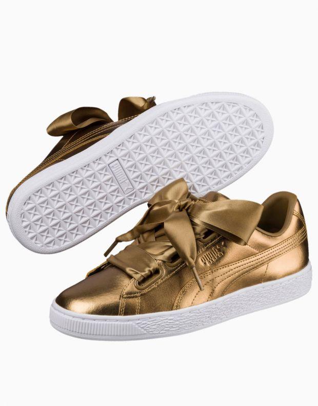 PUMA Basket Heart Luxe Gold - 366730-02 - 3