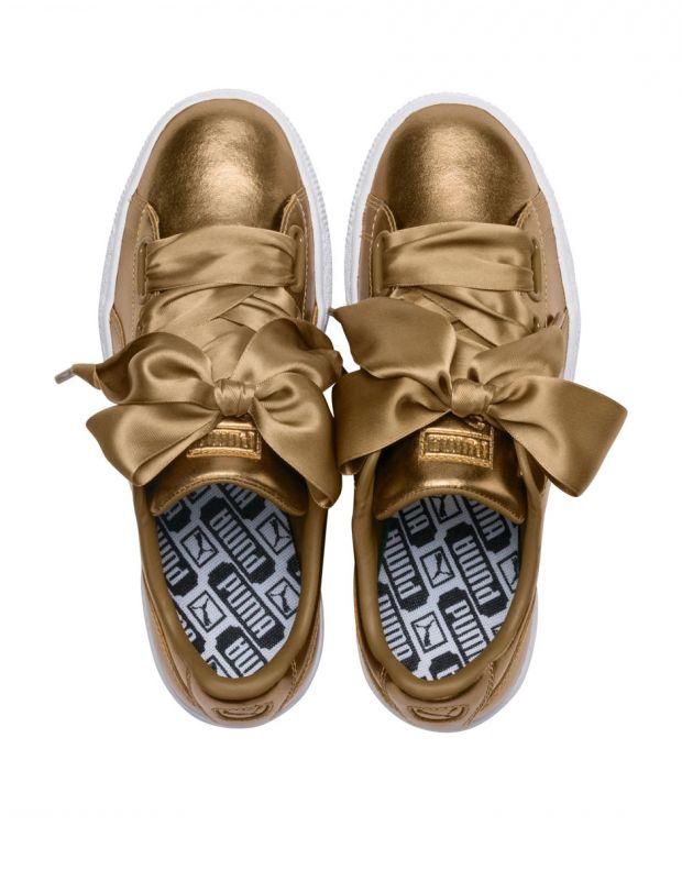 PUMA Basket Heart Luxe Gold - 366730-02 - 5