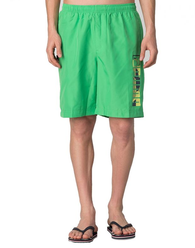 PUMA Casual Logo Shorts Green - 828194-07 - 1