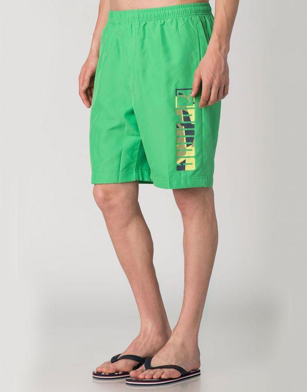 PUMA Casual Logo Shorts Green - 828194-07 - 3