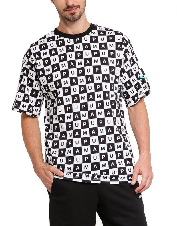 PUMA Checkboard AOP Tee Black - 578262-02 - 1