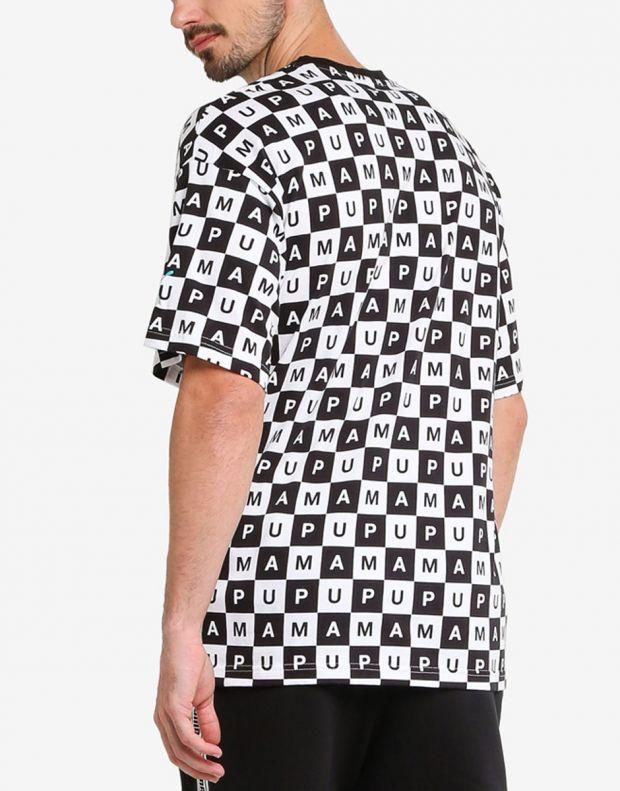 PUMA Checkboard AOP Tee Black - 578262-02 - 2
