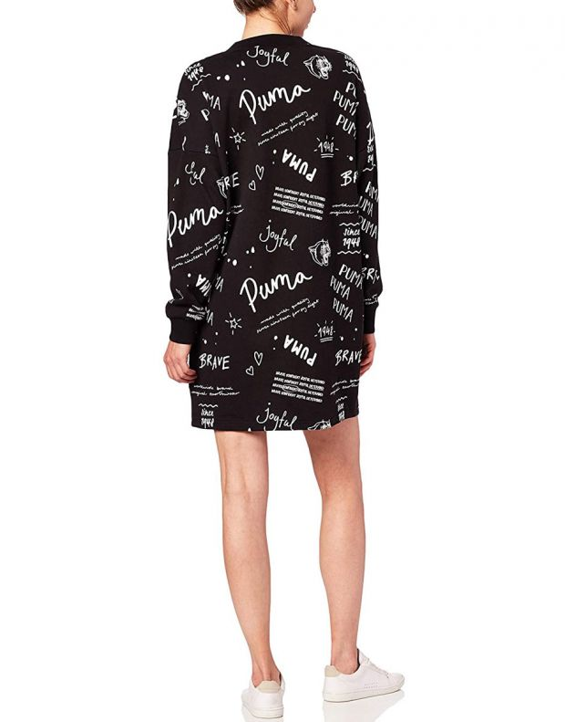 PUMA Long Classics Aop Dress Black - 595219-61 - 2