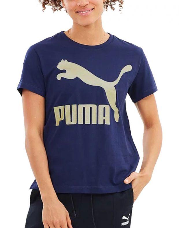 PUMA Classics Logo Tee Peacoat Gold - 576242-76 - 1