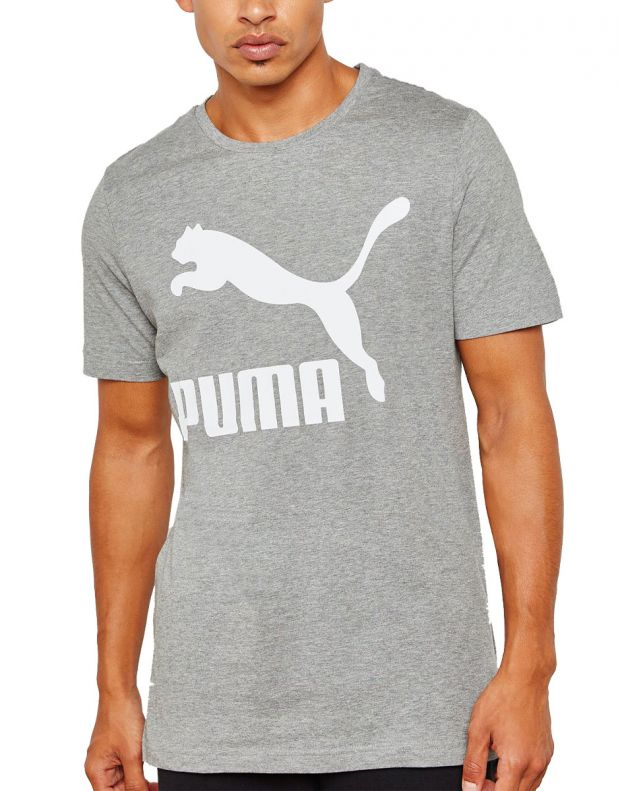 PUMA Classics Logo Tee Grey - 1