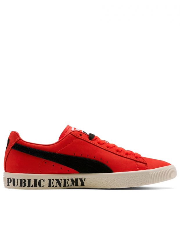 PUMA Clyde X Public Enemy High Risk Red - 374539-01 - 2