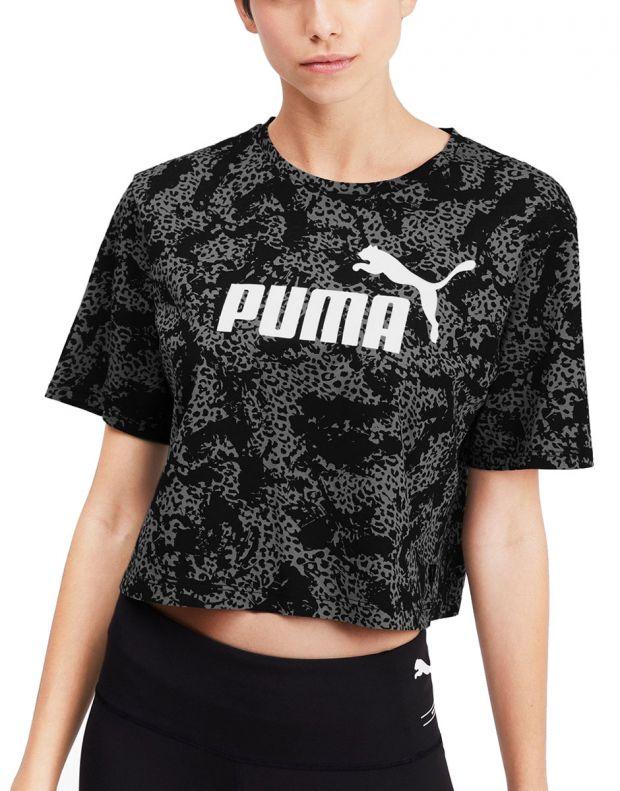 PUMA Elevated ESS Cropped Logo Aop Tee Black - 580392-01 - 1