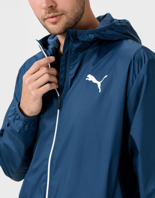 PUMA Essentials Solid Windbreaker Navy - 582696-43 - 3