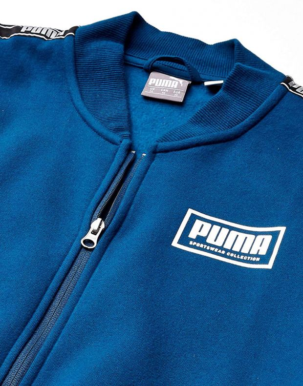 PUMA Holiday Pack Full Zip Bomber Jacket Blue - 581767-38 - 4