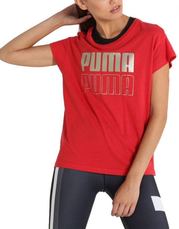 PUMA Modern Sport Graphic Tee Red - 852010-12 - 1