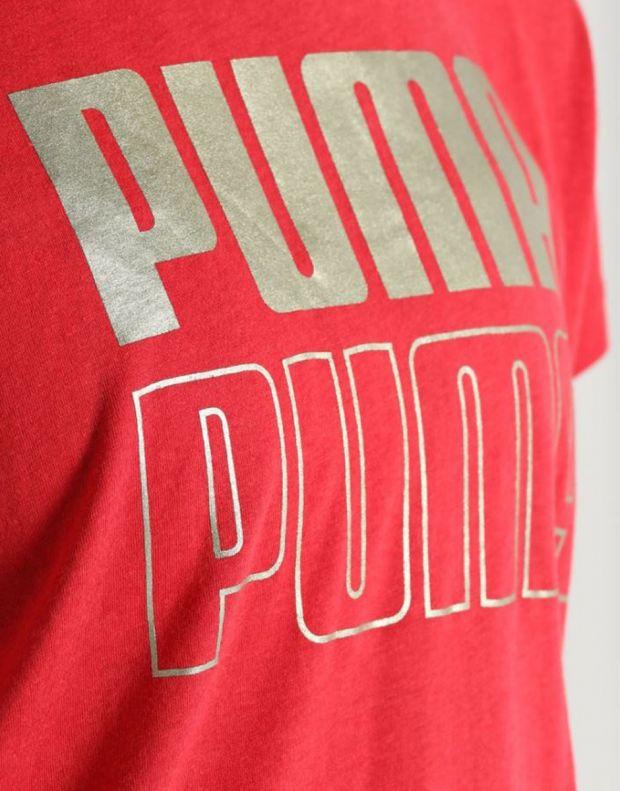 PUMA Modern Sport Graphic Tee Red - 852010-12 - 4