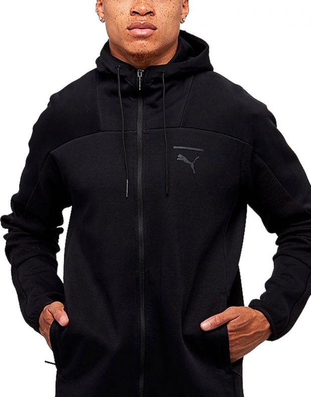 PUMA Pace Full Zip Fleece Hoodie Black - 1