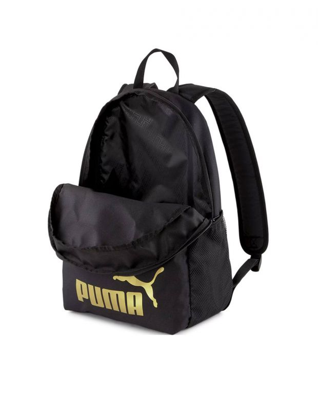 PUMA Phase Backpack Black/Gold - 075487-49 - 3