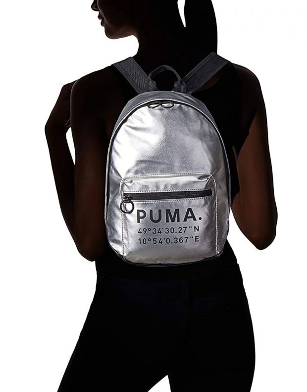 PUMA Mini Prime Time Arhive Backpack Silver - 076595-02 - 5